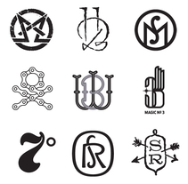 Monogramas (varios clientes). A Br, ing, Identit, T, pograph, and Calligraph project by Quique Ollervides - 18-06-2014