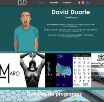 Este es mi Portafolio Web. A Web Design project by David Duarte - 15-10-2016