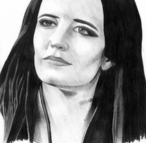 Retrato Eva Green como Artemisia (300 El origen de un imperio). A Illustration, Film, Video, TV, and Film project by helena diaz         - 29.10.2016