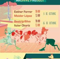 """Cartel """"Proyecto Archivo"""" para la Universidad del Pais Vasco. Un proyecto de Ilustración, Bellas Artes, Diseño gráfico y Caligrafía de Raquel Requejo         - 04.11.2016"""