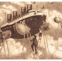 Viajeros de sueños. A Illustration project by Javier Castillejo Patón         - 05.11.2016