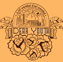 T-Shirt illustration for Canadian band Dear Youth. A Illustration, Costume Design, and Graphic Design project by Bárbara Gondar         - 12.11.2016