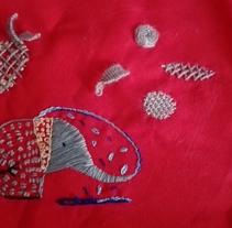 Pequeño trabajo de bordado.. A Crafts project by solonecesitaselsol         - 13.11.2016