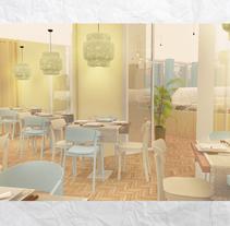 Restaurante Tivoli . A 3D, Interior Architecture, Interior Design&Infographics project by Araceli Muñoz - 14-11-2016