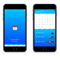 Prototipo de calendario para iOS y Android. A UI / UX project by Belén Maya Torres         - 02.12.2016