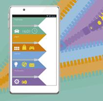 Propuesta Interface estilo flat design  . Um projeto de Design e Design interativo de Veronica Ortiz Risco         - 11.12.2016