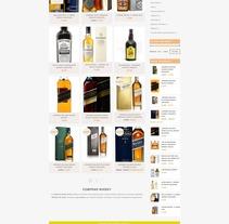 Diseño Tienda Online Comprar Whisky. Um projeto de Web design de Jose Luis Torres Arevalo         - 11.12.2016