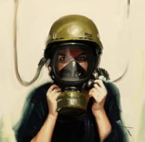 Helmet Girl. Un proyecto de Bellas Artes de Isem Garcia Massana - 14-12-2016