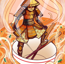 The Hungry Samurai. A Design, Illustration, and Character Design project by Gema Moratilla         - 21.12.2016