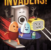 INVADERS!: Trabajo Final de IPNI. A Illustration, Character Design, and Graphic Design project by Mariano Jaime - 25-12-2016