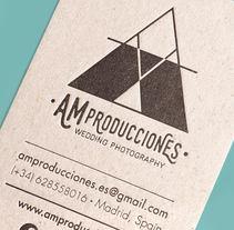 DISEÑO DE IDENTIDAD / AM Producciones ©. A Design, Photograph, Br, ing, Identit, and Graphic Design project by Alberto Lorenzo Estefanía         - 01.01.2017