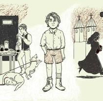 Aceite de perro. Ambrose Bierce. Un proyecto de Ilustración de María Octavia Russo         - 05.01.2017