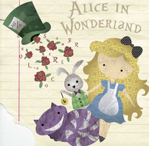 Alice in Wonderland. Um projeto de Design, Ilustração, Design de vestuário e Design gráfico de Esther Miralles         - 19.01.2017