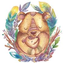 Oso tipi. Un proyecto de Ilustración de anahi echeverria         - 16.11.2016