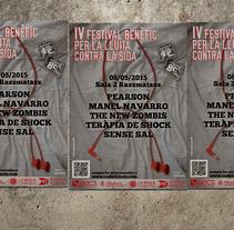 IV Festival Benèfic Contra la SIDA. Un proyecto de Diseño gráfico de Dani Zapata         - 07.05.2015