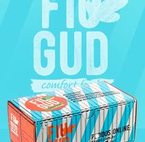 Fiu Gud Hamburgueria - Belo Horizonte/Brasil. Un proyecto de Dirección de arte, Br, ing e Identidad, Diseño editorial y Packaging de Edmundo Miranda - 23-01-2017
