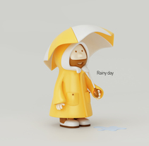 Rainy day. A Design, Illustration, and 3D project by Juan Afanador         - 26.01.2017