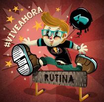 """saltar la rutina"". A Illustration, and Graphic Design project by Rafa Velásquez         - 31.08.2016"
