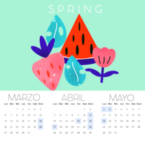 Mi Proyecto del curso: Ilustrando el tiempo CALENDARIO GIRLY. A Design, Illustration, Graphic Design, and Street Art project by Laura G.         - 08.02.2017