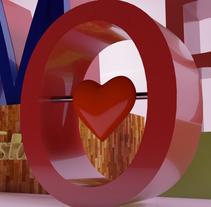 san valentin 3d cinema 4d. Um projeto de 3D de ENMANUEL RONDON         - 12.02.2017
