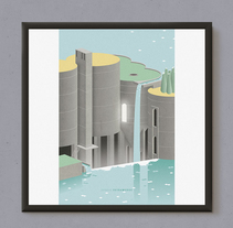 La Fábrica / Ricardo Bofill. A Illustration, Architecture, and Graphic Design project by EExtramuros - 16-02-2017