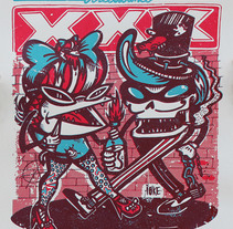 XXX Street Dance XXX. A Design, Illustration, Character Design, Screen-printing, and Comic project by Fer         - 02.02.2018