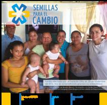 Diseño y diagramación Boletín Semillas para el cambio. Um projeto de Br, ing e Identidade e Design editorial de Patricia Calderón Jiménez         - 02.03.2017