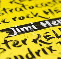 Jimi Hendrix. Deluxe edition. Um projeto de Música e Áudio, Direção de arte, Design gráfico, Tipografia e Lettering de Amal Nur Karim         - 11.03.2017
