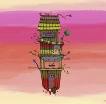 Pequeños Mundos  - Little worlds . Um projeto de Ilustração e Design de produtos de Juan Alonzo         - 14.03.2017