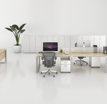 Render Producto Oficina. Um projeto de Arquitetura, Design de móveis e Design de interiores de Gabriela Afonso Romero         - 15.03.2017