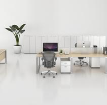 Render Producto Oficina. A Architecture, Furniture Design&Interior Design project by Gabriela Afonso Romero         - 15.03.2017
