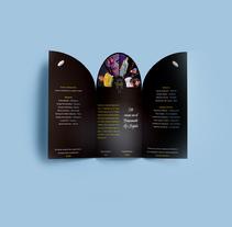 LA LLAMADA (Tríptico). Un proyecto de Diseño gráfico de Sara Sánchez Vargas         - 16.03.2017