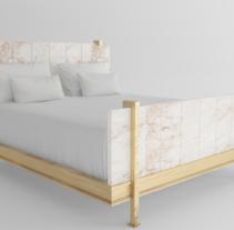 Versión de cama con placas de alabastro del diseñador Marc du Plantier. Um projeto de 3D e Design de interiores de Javier Sánchez Villalba         - 17.03.2017