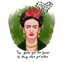 Frida Kahlo: Pies para qué los quiero si tengo alas pa'volar.. Um projeto de Ilustração de José Pérez Gandía         - 24.03.2017