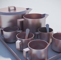 Juego de té. A Design, 3D, and Product Design project by Cristina Pérez Del Yerro Moreno         - 15.06.2016