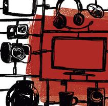 Youtubers | Magazine illustration. Un proyecto de Ilustración y Diseño editorial de Mónica Toledo         - 01.03.2016