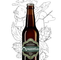 Opuntia cerveza pampeana!. A Illustration project by tufoni_alexis         - 28.03.2017