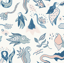 Mi Proyecto del curso: Diseño de estampados textiles. Un proyecto de Ilustración, Diseño de complementos y Moda de cristina carmona saucedo - 03-04-2017