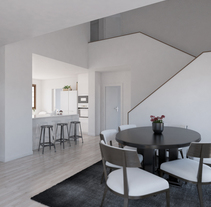 Proyecto e infografías vivienda unifamiliar. Um projeto de 3D, Arquitetura, Arquitetura de interiores e Design de interiores de Ferran Prat - 04-04-2017