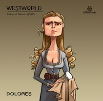 WestWorld Tribute. A Illustration, and Character Design project by Esther Morales         - 11.04.2017