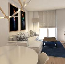 Apartamento de alquiler turístico en Madrid centro.. Un proyecto de 3D, Arquitectura interior, Diseño de interiores e Infografía de Bruno Lavedán - 10-02-2016
