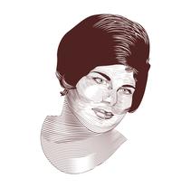 Primer Retrato gracias al curso Técnicas de Grabado Digital. Um projeto de Ilustración vectorial de Melody Martínez Carrillo - 27-04-2017