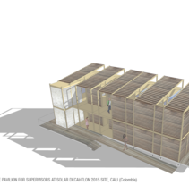 Residence pavilion for supervisors at Solar Decathlon 2015, Cali (Colombia). Un proyecto de Arquitectura de martacmateo - 01-03-2015