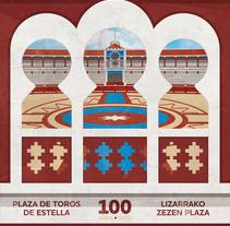 CARTEL - Centenario Plaza de Toros Estella. A Design, Illustration, Graphic Design, and Vector illustration project by Concepción Domingo Ragel - 05-05-2017