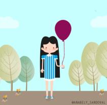 ¿De qué color prefieres tu globo?. Un proyecto de Ilustración de Anabely Sandoval - 11-05-2017