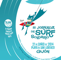 Roller e hijo. Surf solidario 2014. A Graphic Design, and Vector illustration project by frigofingers         - 01.06.2014