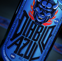 Diablo Azul Beer - Packaging. A Design, Illustration, Art Direction, Graphic Design, and Packaging project by Abdiel Hernán         - 20.05.2017