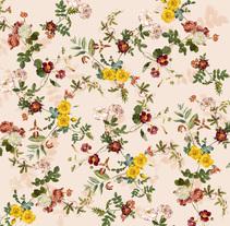 ALLOVER BOTANICAL FLOWER - BERSHKA. Un proyecto de Diseño e Ilustración de Gisela  Sánchez Serra          - 14.02.2017