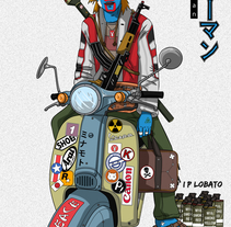 Live up!!  (Burūman series) · Illustration + Line art. Um projeto de Ilustração de I P LOBATO         - 29.05.2017