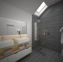 3D Reforma Baño . A 3D, Interior Architecture&Interior Design project by Sergio  Fernández Moreno         - 05.06.2017